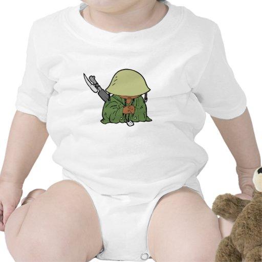Soldado del bebé camisetas