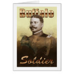 Soldado del búfalo tarjeta
