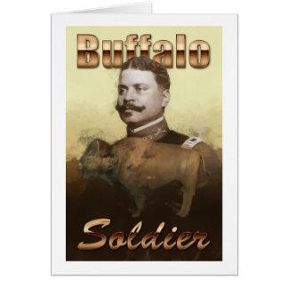 Soldado del búfalo tarjeta de felicitación