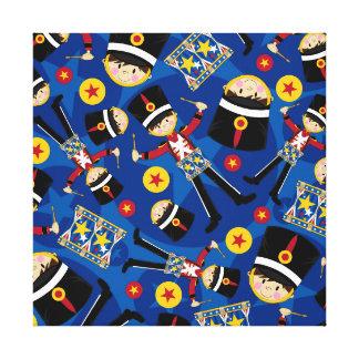 Soldado del cascanueces que juega la lona de los t impresiones en lienzo estiradas