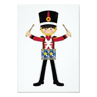 Soldado del cascanueces que juega la tarjeta de invitación 8,9 x 12,7 cm
