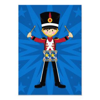 """Soldado del cascanueces que juega la tarjeta de invitación 3.5"""" x 5"""""""