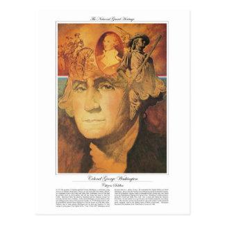 Soldado del ciudadano de coronel George Washington Postales