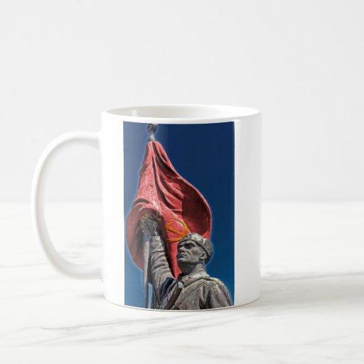 Soldado del comunista del ejército de la liberació taza de café