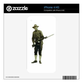 Soldado del Doughboy de la Primera Guerra Mundial iPhone 4 Skin