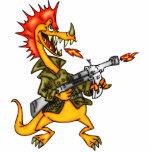 Soldado del dragón esculturas fotograficas