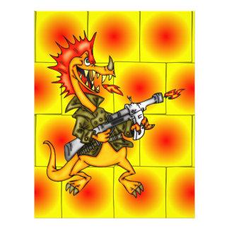 """Soldado del dragón folleto 8.5"""" x 11"""""""