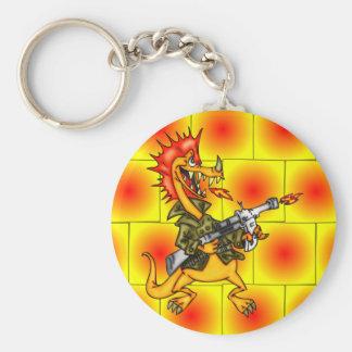Soldado del dragón llavero redondo tipo pin