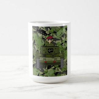 Soldado del ejército británico en taza de café del