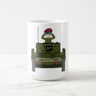 Soldado del ejército británico en taza del tanque