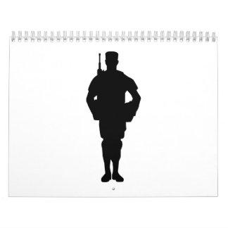 Soldado del ejército calendario de pared