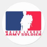 Soldado del ejército de la primera división etiquetas redondas
