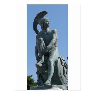 Soldado del griego clásico en Grecia clásica Tarjeta Postal