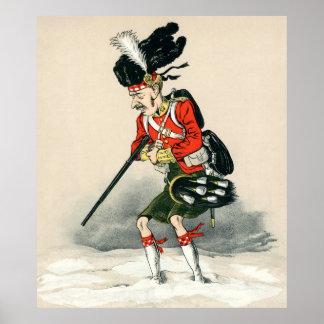 Soldado del montañés de Gordon Póster