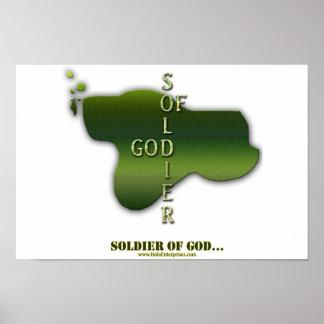 Soldado del poster de dios