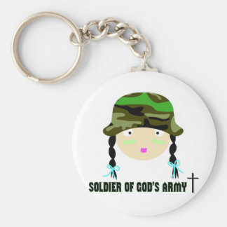 Soldado del regalo del cristiano del ejército de d llaveros