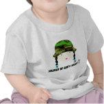 Soldado del regalo del cristiano del ejército de camiseta