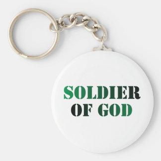 Soldado del vert de dios y noir llaveros