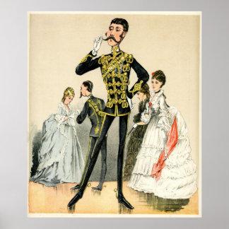 Soldado del Victorian de los 10mos húsares reales Póster