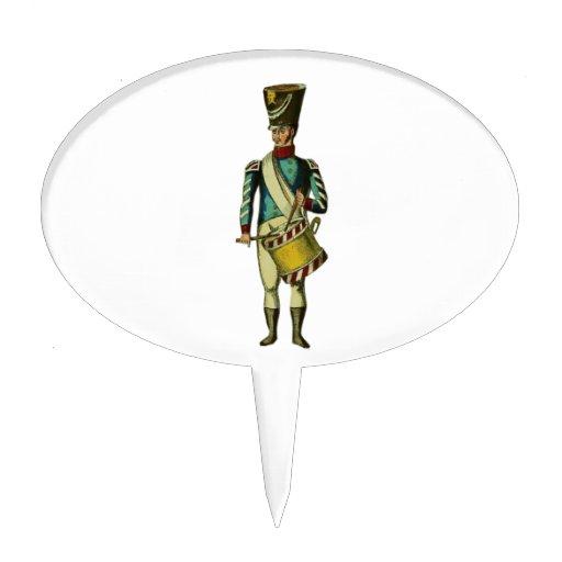 Soldado del Victorian del batería que marcha Decoración De Tarta