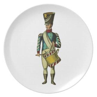 Soldado del Victorian del batería que marcha Plato De Comida