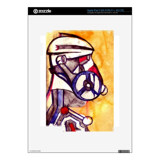Soldado enmascarado gas V2 iPad 3 Skins