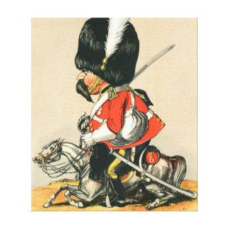 Soldado escocés real de los grises impresiones en lona estiradas