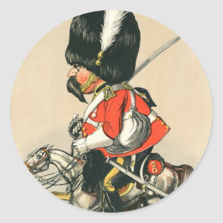 Soldado escocés real de los grises pegatina redonda