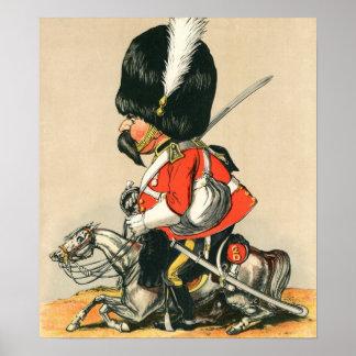 Soldado escocés real de los grises póster