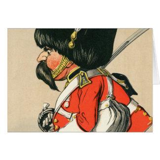 Soldado escocés real de los grises tarjeton