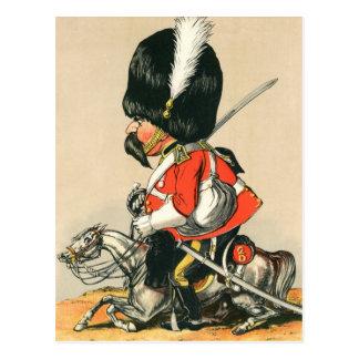 Soldado escocés real de los grises postal
