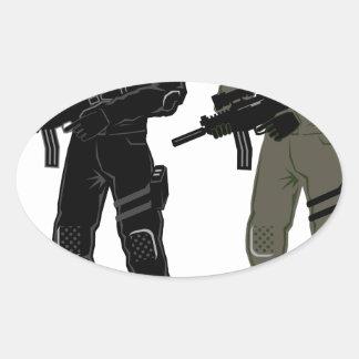 Soldado especial pegatina ovalada
