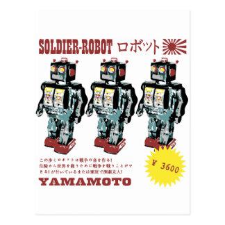Soldado japonés del robot del juguete postales