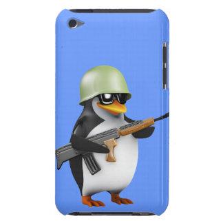 Soldado lindo 3d (editable) Case-Mate iPod touch cárcasas