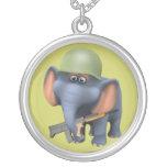 Soldado lindo del elefante 3d (editable) pendientes