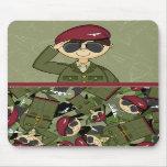 Soldado Mousepad del ejército británico Alfombrillas De Raton