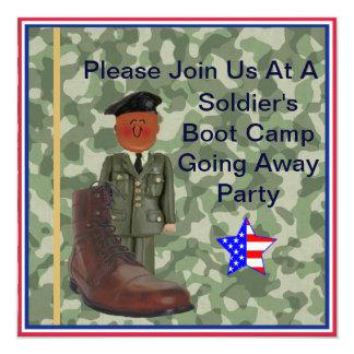 Soldado negro Boot Camp que va lejos invitación