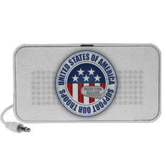 Soldado orgulloso del guardacostas iPod altavoz
