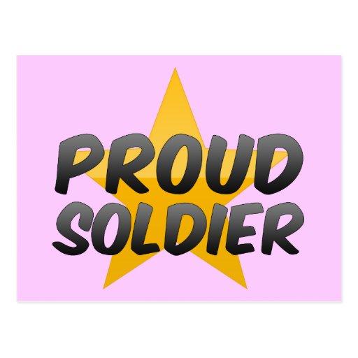 Soldado orgulloso postal