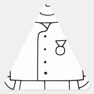 Soldado patriótico pegatina triangular