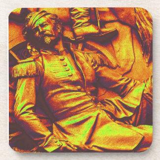 Soldado prusiano herido, tinte amarillo posavasos de bebida