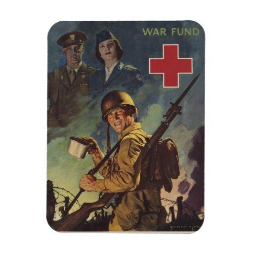 Soldado que sostiene el café imanes