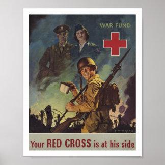 Soldado que sostiene el café póster