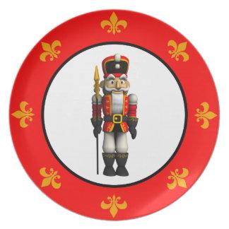 Soldado rojo del cascanueces platos