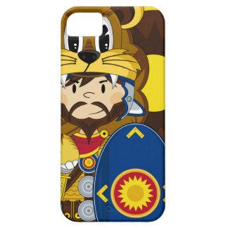 Soldado romano del centurión del dibujo animado iPhone 5 carcasas