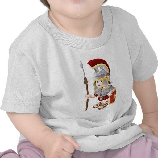 Soldado romano del dibujo animado camiseta
