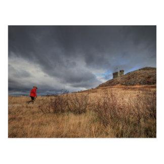 Soldado solitario tarjeta postal