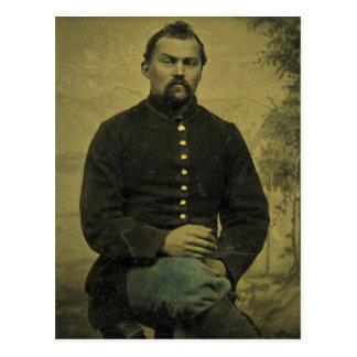 Soldado Tintype de la unión de la guerra civil Postal