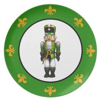 Soldado verde del cascanueces platos