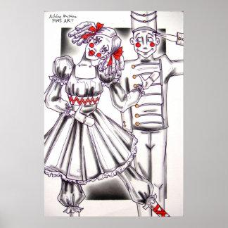 Soldado y muñeca de lata póster